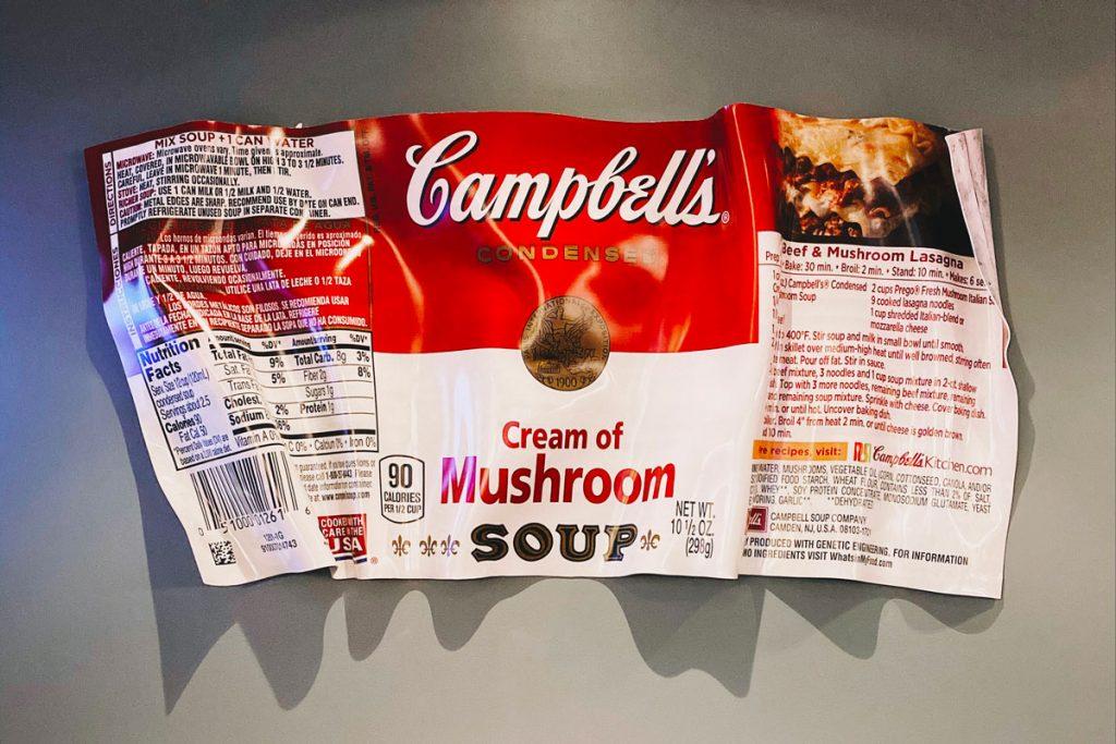 Lire etiquette soupe champi