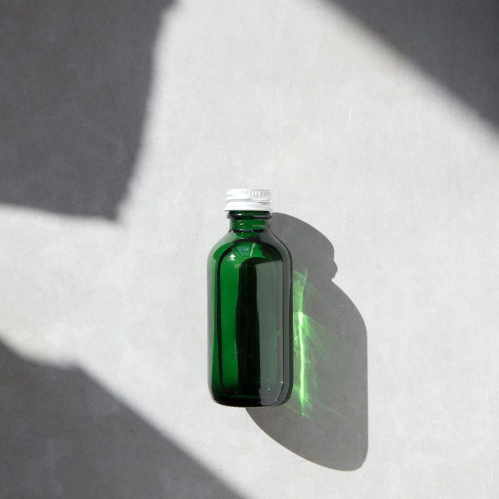 bouteille verte emballage