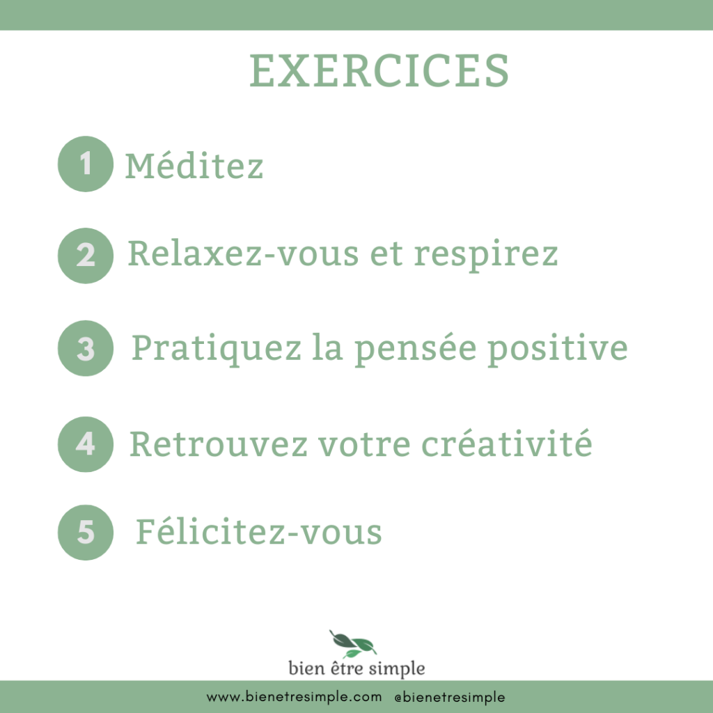 Exercices developpement personnel